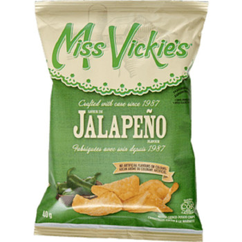 Box of Miss Vickie's Jalapeno Kettle Cooked Potato Chips (40ct x 40g/1.4oz,) (Imported from Canada)
