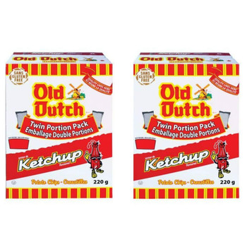 Old Dutch Ketchup Chips (2 x 220G) Bundle {Imported from Canada}