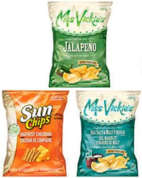 Box of FRITOS Variety Chips, Sun Chips, Miss Vickie's (36ct x 40g/1.4oz)(Imported from Canada)