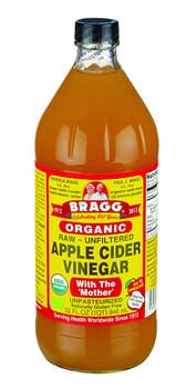 Bragg Organic Raw Apple Cider Vinegar, 946ml/32oz., {Imported from Canada}