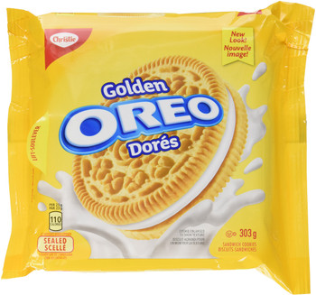 Oreo Golden Sandwich Cookies, 303g/10.7oz, Bag, {Imported from Canada}