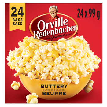 Orville Redenbacher Popcorn, Microwave Buttery (24pk. with 24 bags total) {Imported from Canada}