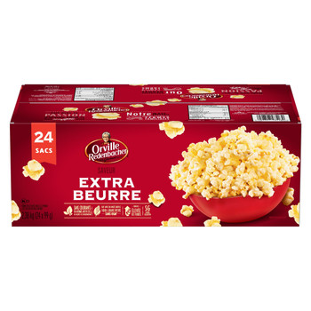 Orville Redenbacher Popcorn, Microwave Extra Buttery (24pk. with 24 bags total) {Imported from Canada}