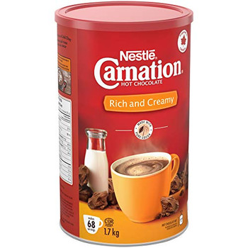 CARNATION Nestle Rich and Creamy Hot Chocolate, 1.7kg/3.7lbs, Canister, {Imported from Canada}