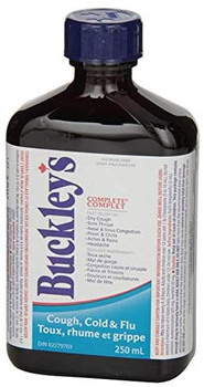 Buckley's Complete Cough Cold & Flu Syrup 2x 250mL {Imported from Canada}