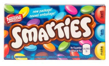 Nestle Smarties (CASE) (24ct x 45g), {Imported from Canada}