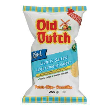 Old Dutch Rip L Potato Chips Lightly Salted, 255g/9oz. {Imported from Canada}