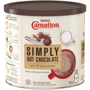 CARNATION Simply 5 Hot Chocolate, 400g/14.1oz., {Imported from Canada}