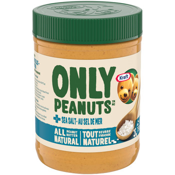 Kraft All Natural Peanut Butter with Sea Salt, 750g/26.5oz {Imported from Canada}