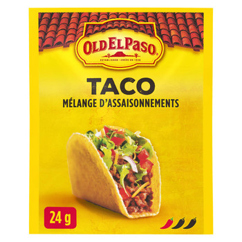 Old El Paso Taco Seasoning Mix, 24g/1oz., {Imported from Canada}