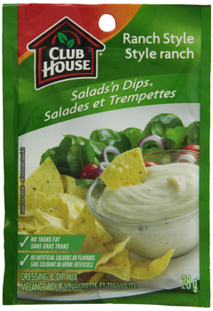 Club House Ranch Style Dressing & Dip Mix, 28g/1oz., {Imported from Canada}