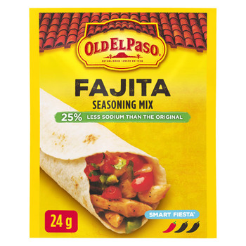 Old El Paso, Smart Fiesta, Reduced Sodium, Fajita Seasoning Mix, 24g/0.8oz., {Imported from Canada}