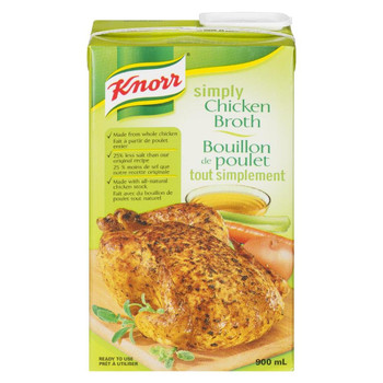 Knorr Simply Chicken Broth, 900ml/30.4oz., {Imported from Canada}