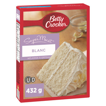 Betty Crocker, SuperMoist White Cake Mix, 461g/16.3oz., {Imported from Canada}