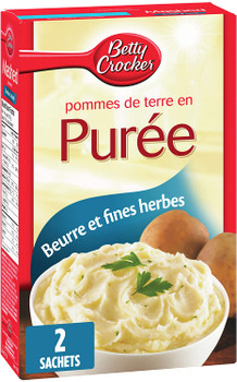 Betty Crocker, Butter & Herb, Mashed Potatoes, 215g/7.6oz, {Imported from Canada}