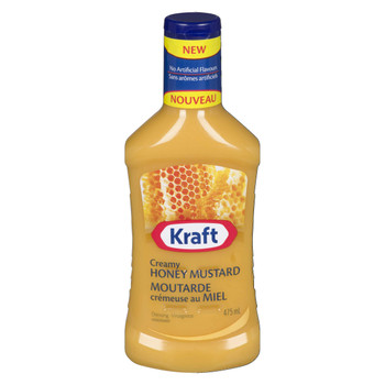 Kraft Creamy Honey Mustard Dressing, 475mL/16oz., {Imported from Canada}