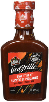 Club House La Grille, Sweet Heat, BBQ Sauce, 435ml/14.7oz.,{Imported from Canada}