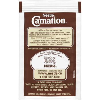 Nestle Carnation Hot Chocolate, Rich and Creamy, (10ct x 25g) sachets, {Imported from Canada}