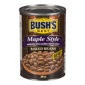 Bush's Best Maple Style Baked Beans/Quebec Maple Syrup 398ml (Imported from Canada)