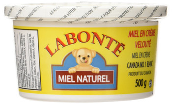 Labonte Extra Creamy, Creamed Honey, 500g/17.6oz., {Imported from Canada}