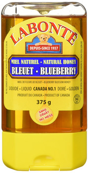 Labonte, Blueberry, Liquid Honey, 375g/13.2oz., {Imported from Canada}