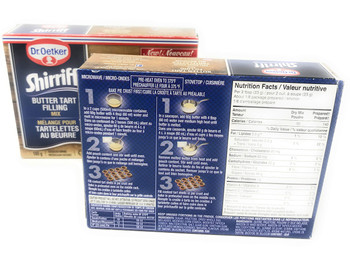 Dr. Oetker Shirriff Butter Tart Filling Mix, 180g/6.3oz per box, 2ct, {Imported from Canada}