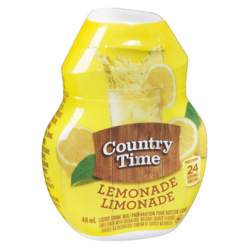 Country Time Liquid Drink Mix, Lemonade, 48mL (Pack of 12), {Imported from Canada}