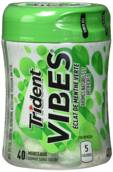 Trident Vibes Spearmint Rush 40-Piece Bottle, 6 Count, {Imported from Canada}