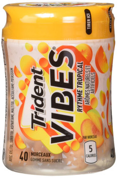 Trident Vibes Tropical Beat, 40-Piece Bottle, 6 Count, {Imported from Canada}