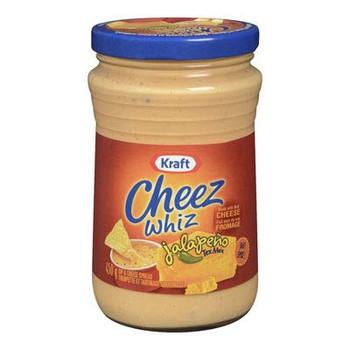 Kraft Jalapeno Tex Mex Cheez Whiz, 450g/15.9oz., {Imported from Canada}