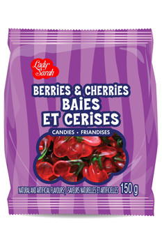 Lady Sarah Berries & Cherries, 150g/5.3oz., {Imported from Canada}