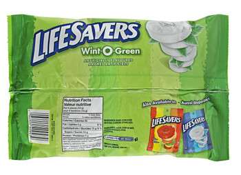 Life Savers Wint-O-Green, Laydown Bag, 368g/13oz.,  {Imported from Canada}