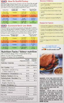Kraft, Stove Top Stuffing Mix, Turkey, 120g/4.2oz., {Imported from Canada}