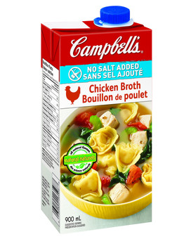 Campbell's, No Salt Added Chicken Broth, 900ml/30.4oz., {Imported from Canada}
