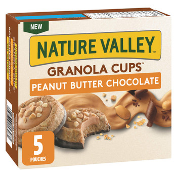 NATURE VALLEY, Granola Cups Peanut Butter Chocolate Flavour, 5ct, 191g/6.7oz., {Imported from Canada}