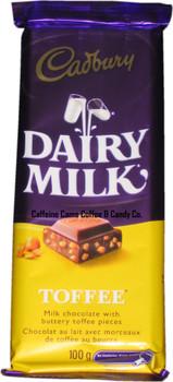 Cadbury Dairy Milk Chocolate Bar, Toffee, 100g/3.5oz {Imported from Canada}