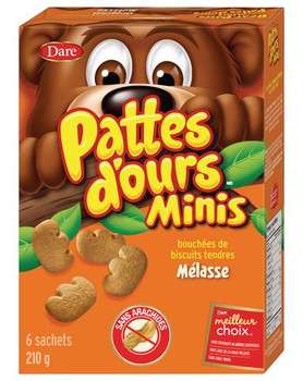 Dare, Bear Paws, Minis, Original, Soft Bite, Cookies, 210g/7.4oz., {Imported from Canada}