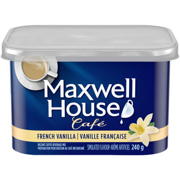 Maxwell House Cafe, French Vanilla, Instant Coffee, 240g/8.5oz., {Imported from Canada}