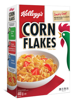 Kellogg's, Corn Flakes Cereal, 440g/15.5oz., {Imported from Canada}