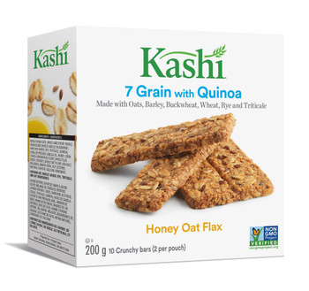 Kashi, 7 Grain, Honey Oat Flax with Quinoa, 10 bars, 200g/7.1oz., {Imported from Canada}