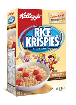 Rice Krispies, Gluten Free Cereal, 340g/12oz., {Imported from Canada}