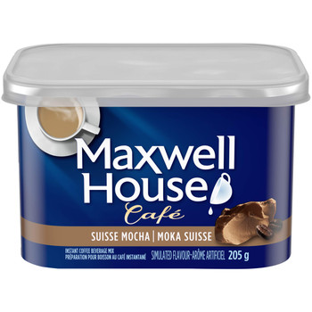 Maxwell House Cafe, Suisse Mocha, Instant Coffee, 205g/7.2oz., {Imported from Canada}