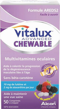 Vitalux Advanced, Chewable Ocular Multivitamin, 50 chewable tablets, {Imported from Canada}