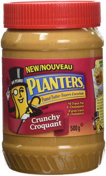 Planters, Crunchy Peanut Butter, 500g/17.6oz., {Imported from Canada}