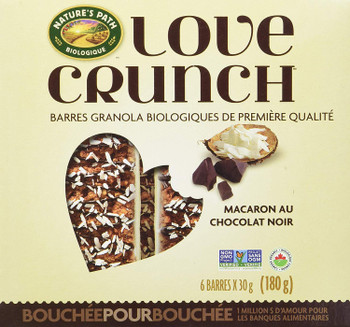 Nature's Path, Organic Granola Bar, Love Crunch Chocolate Macaroon, 180g/6.3oz., {Imported from Canada}