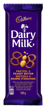Cadbury Dairy Milk Pretzel and Peanut Butter, 100g {Imported from Canada}