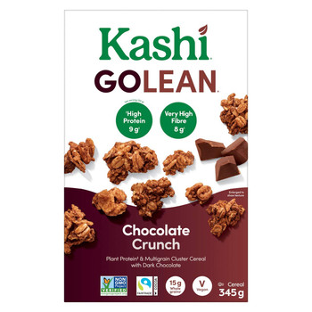 Kashi GOLEAN Chocolate Crunch Cereal, 345g/12.2oz., {Imported from Canada}