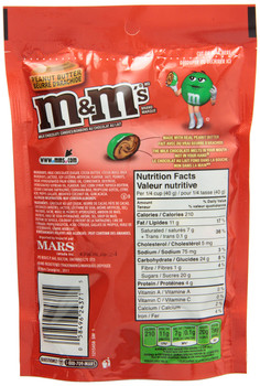 M&Ms Peanut Butter, Chocolate Candy, (230g / 8.1oz), {Imported from Canada}