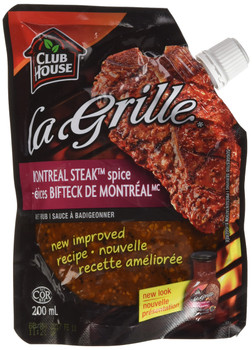 La Grille, Grilling Made Easy, Montreal Steak Spice Wet Rub, 200ml/6.8oz,{Imported from Canada}