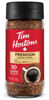 Tim Hortons Premium Instant Coffee (Medium) 100g/3.5oz., {Imported from Canada}